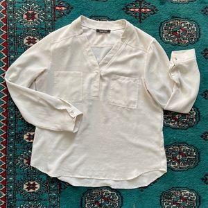 White Nine West Blouse Long Sleeve Large
